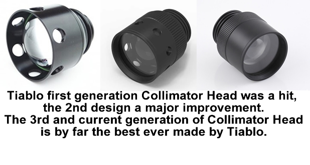 Tiablo Collimator Head Generations