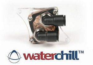 WaterChill VGA Cooler with 10 mm Elbow Fittings